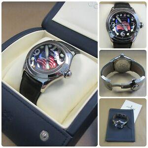 Corum Limited Edition American Flag Bubble Watch w/ Original Case & Box