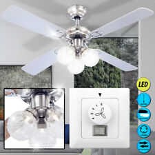 LED Ventilateur de Plafond Éclairage bois Aile boule en verre mur Big Light