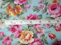 FAT QUARTER 1 YARD OF GORGEOUS FLORAL COTTON POPLIN FABRIC BY ROSE AND HUBBLE