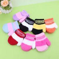 Cute Infant Baby Kid Boys Girls Warm Winter Gloves Toddler Knit Rainbow Mittens