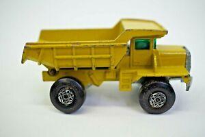 Matchbox  Mack Dump Truck No. 28  Yellow 1970