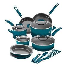 **NEW* Rachael Ray 15-Piece Hard Enamel Nonstick Cookware Set - Marine Blue