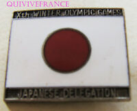 BG9396 - INSIGNE BADGE Xth WINTER OLYMPIC GAMES JAPAN DELEGATION - GRENOBLE 1968