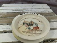 antique Royal doulton vintage lady in a shoe baby plate nursery rhymes