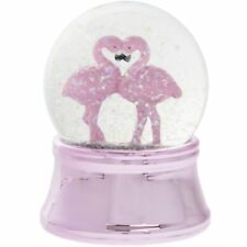 Large Pink Flamingo Glittering Led colour changing SnowGlobe Brand new and Boxed