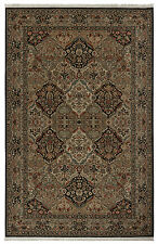 10' x 14' Karastan Axminster Woven Area Rug Empress Kirman Black Multi Brick