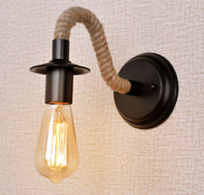Vintage Rustic Kreativ Wandleuchte E27 Lampenfassung Wandlampe Rope Industrielle