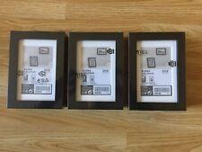 3 x IKEA RIBBA Black Picture Frames  (Size 10x15 cm) - £12.99 - FREE P&P