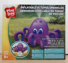 """NEW Play Day Inflatable Octopus Sprinkler, 40.6"""" x 22"""""""