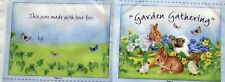 "1 Adorable ""Garden Gathering Soft Book"" Easter Fabric Crafting Sewing Panel"