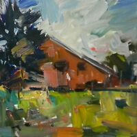 JOSE TRUJILLO - IMPRESSIONISM OIL PAINTING WOODS FIELD CABIN LANDSCAPES - 12X12""