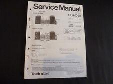 Original Service Manual Technics SL-HD60