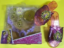 DISNEY PRINCESS TANGLED RAPUNZEL COSTUME DRESS UP ACCESSORY SHOES JEWELRY LOT