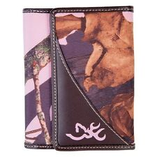 Browning Ladies French Wallet Mossy Oak Pink Camouflage Women's Camo