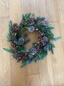 White company Rosemary And Pinecone Wreath 50cm