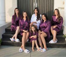 USA Bridal Gift  Women's SILK Kimono Robes Bathrobe BRIDE, BRIDESMAID