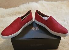 FRYE IVY FRAY Woven Women's Red Leather Slip Sneakers Shoes Size 9