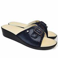 SCHOLL MANGO Memory Cushion sandali zoccoli ciabatte pantofole donna zeppa  pelle 5fe07770fe8