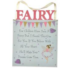 Wooden Believe in Fairy Bedroom Sign Plaque Decoration Children's Girl Door Wall