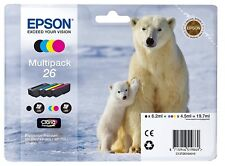 Genuine Epson Multipack 26 Polar Bear  Claria Premium Ink Cartridges T2616