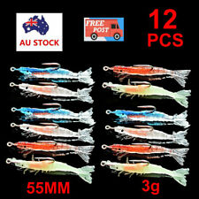 12PCS Soft Plastic Fishing Lures Tackle Prawn Shrimp Flathead Bream Cod Bass