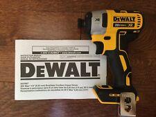 "New DeWalt 20 Volt 20v Max XR Brushless Cordless 1/4"" Impact Driver DCF887"