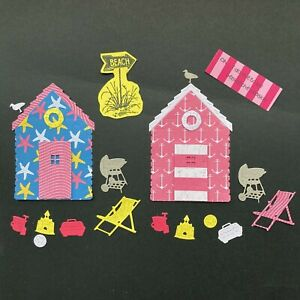 Beach Hut, Barbecue, Seaside Holiday Die Cut Card Toppers - Assorted Styles