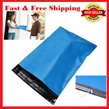 "100 Pc Blue 10"" x 13"" Poly Mailers Shipping Bags Packaging Envelopes 2.5 Mil"