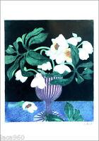 Winifred Pickard British Flowers 1979 Original Lithograph 23-1/4 x 16