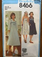 Vintage 1970s Dress Pattern~Simplicity 8466~Size 16