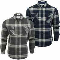Mens Check Shirt by Crosshatch 'Mitty' Long Sleeved