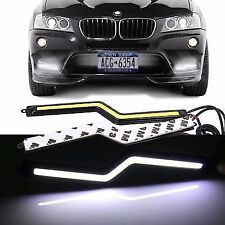 2Pcs Bright Car COB LED DaytimeRunning Light DRL Fog Driving Lamp Black color