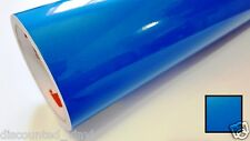 Blue Clear Transparent Vinyl Wrap Graphic Decal Sticker Roll Craft & Cut 24""