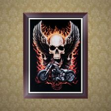 DIY 5D Diamond Embroidery Skull Painting Cross Stitch Home Decoration