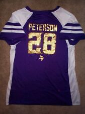 ($65) Minnesota Vikings ADRIAN PETERSON nfl WOMENS/LADIES Jersey (m-medium)