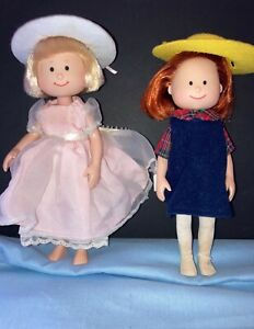 1998 Madeline and Eden dolls clothes and Genevieve the dog