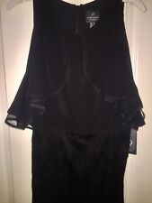 Adrianna Pappel Black  Ruffle Cocktail Dress Size 10