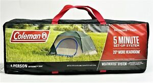 COLEMAN SKYDOME 4 PERSON TENT EVERGREEN Weathertec System Easy Set Up BEST PRICE