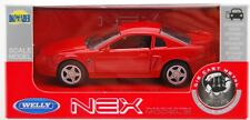 WELLY 1999 FORD MUSTANG GT RED 1:34 DIE CAST METAL MODEL NEW IN BOX