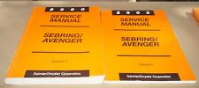 2000 Chrysler Sebring Dodge Avenger Factory Service Shop Manual 2-Volume Set
