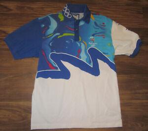 Vintage Sydney 2000 Olympics Womens Polo Shirt, Bond, Sewn-on, Size 8, EUC