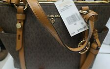 NEW! Michael Kors Nomad Small Convertible Top Zip Leather Tote