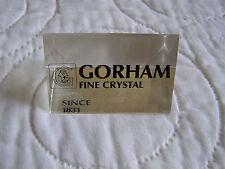 GORHAM CRYSTAL ADVERTISING SIGN