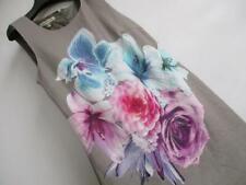 NEW!! designer LAURA ASHLEY 100% Linen ROSE Shift Summer Dress UK 14
