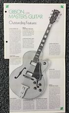 1970's Original Gibson L-5CES Guitar of the Month Brochure