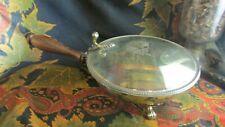ancienne sauciere a couvercle anglaise metal argenté  decors de blasons