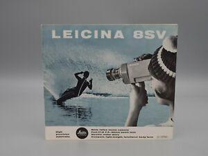 """Original 1964 """"LEICINA 8SV"""" Movie Camera Brochure"""