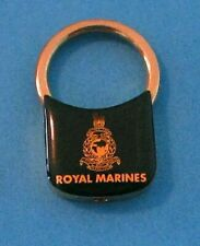 Royal Marines KEY CHAIN FOB KEYRING Brass and Green with logo