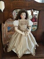 """Antique Style Silk Dress, Cape for your 14-15"""" Huret/Barrois/French Fashion Doll"""