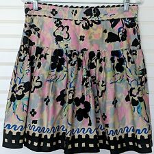 Anna Sui Watercolor Cotton Skater Style Skirt 10
